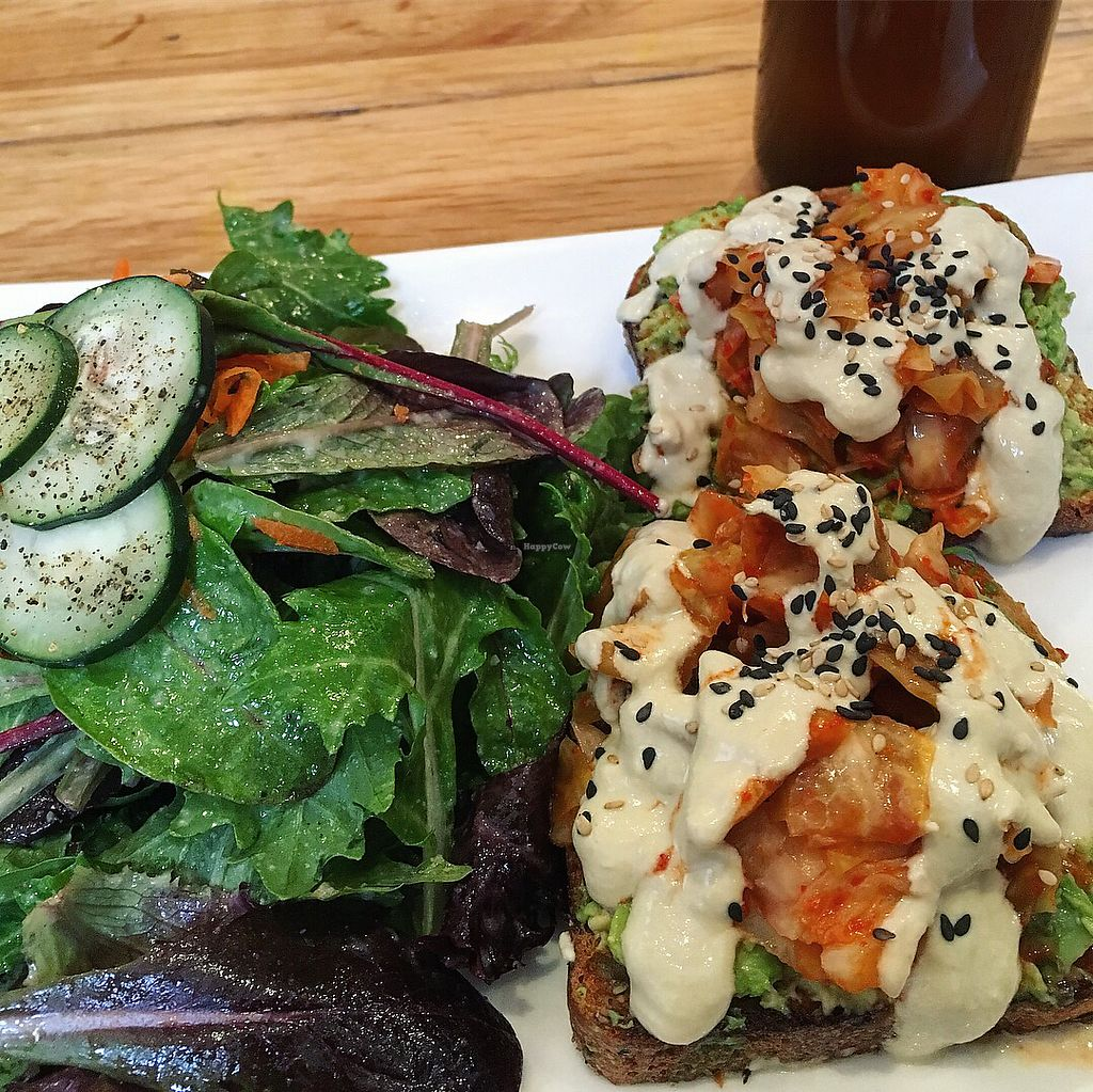 """Photo of Greenmouth Juice Cafe  by <a href=""""/members/profile/AndreaBugyis"""">AndreaBugyis</a> <br/>Love the combo of avo with kimchi  <br/> April 8, 2018  - <a href='/contact/abuse/image/65753/382503'>Report</a>"""