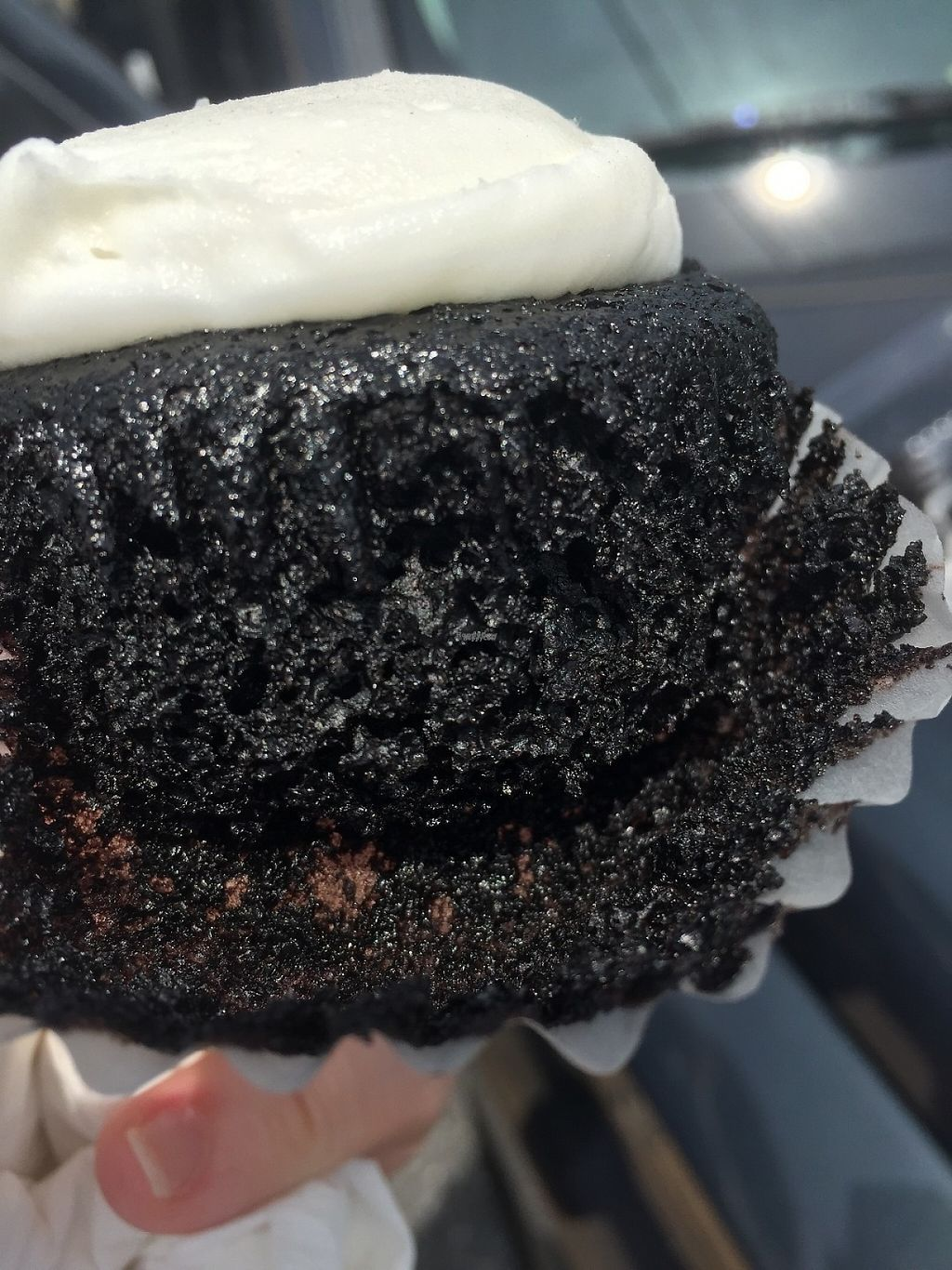 """Photo of Lancaster Cupcake  by <a href=""""/members/profile/ginliv"""">ginliv</a> <br/>Chocolate Vegan Cupcake w/ Vanilla icing <br/> April 30, 2017  - <a href='/contact/abuse/image/65757/253981'>Report</a>"""