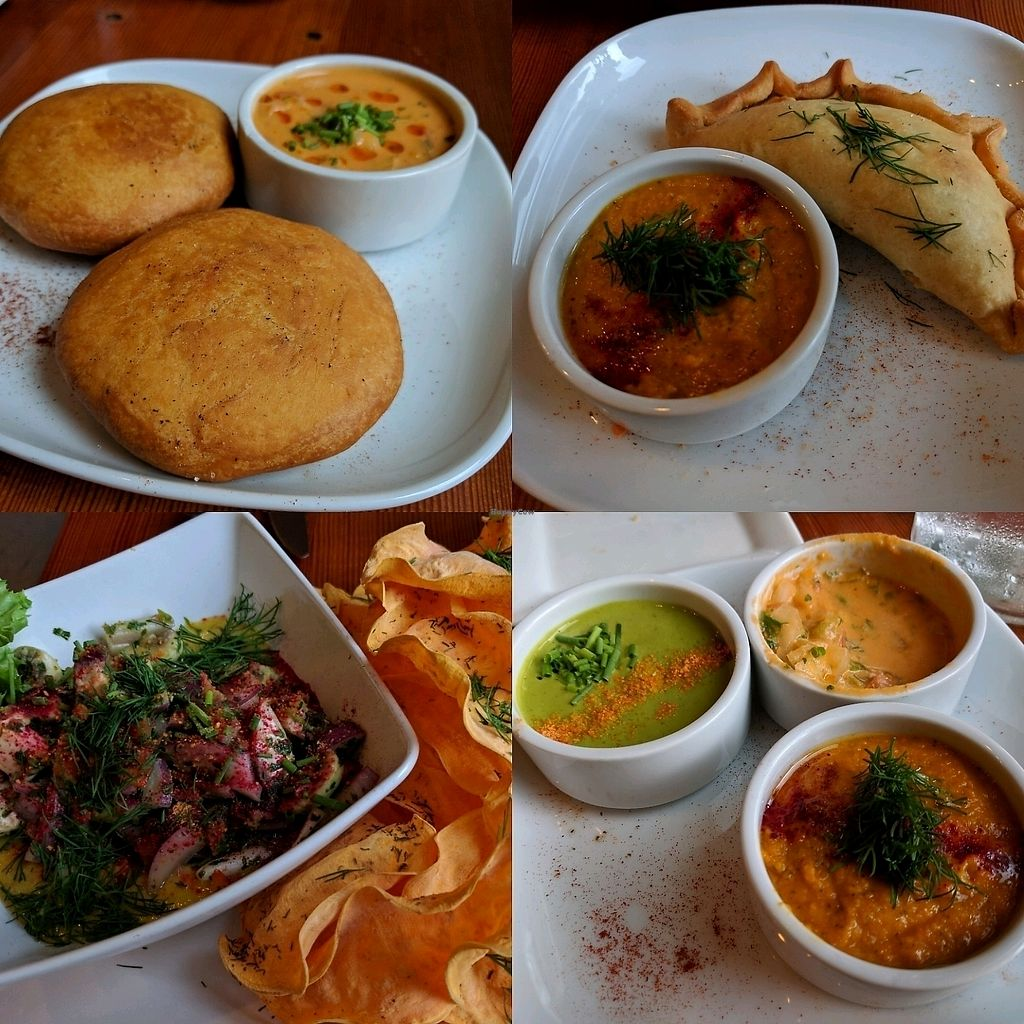 """Photo of Epif  by <a href=""""/members/profile/Chickadee"""">Chickadee</a> <br/>Sopaipillas, special empanada, ceviche with chips, pebres <br/> October 11, 2017  - <a href='/contact/abuse/image/65763/314262'>Report</a>"""
