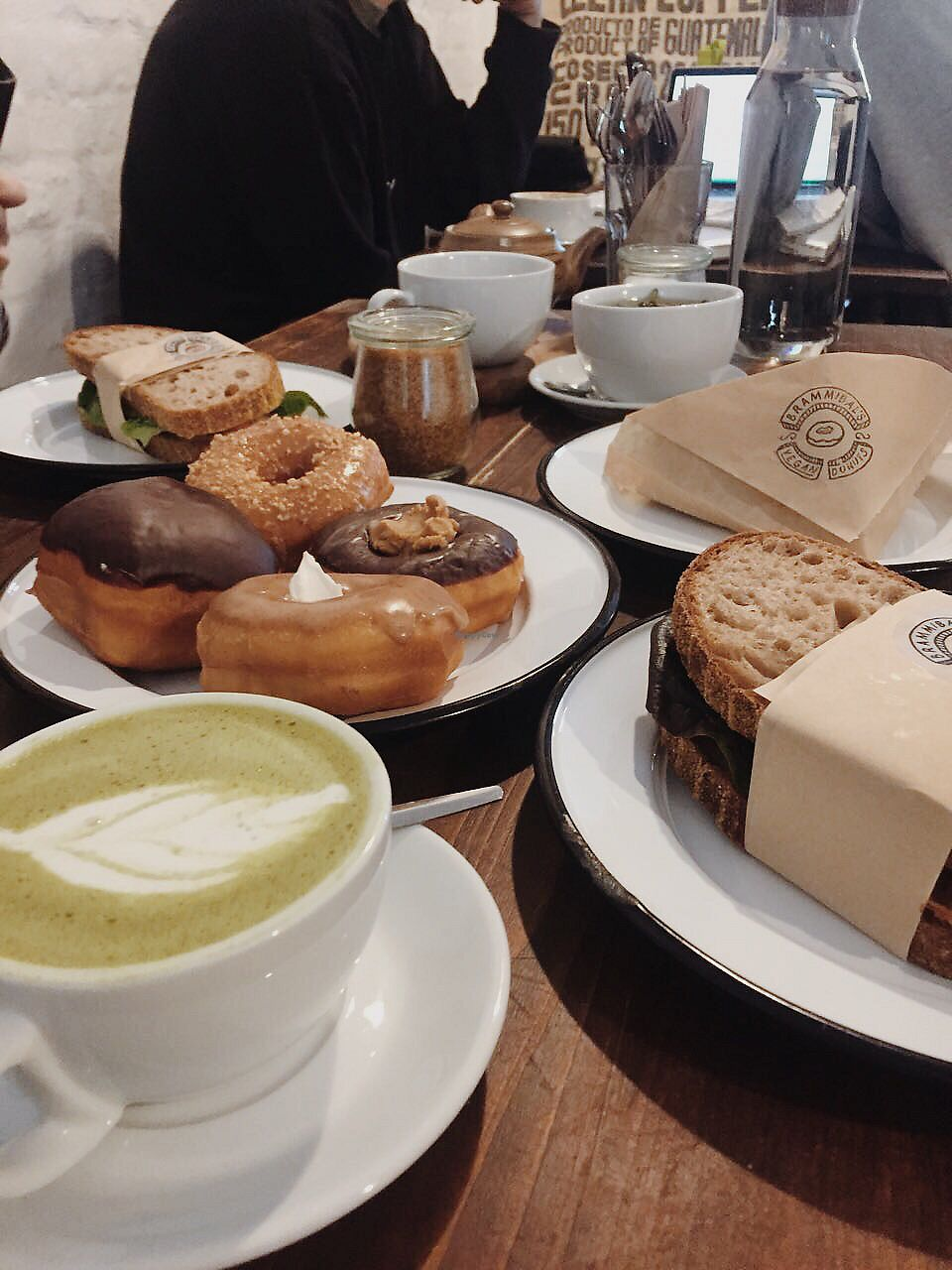 """Photo of Brammibal's Donuts - Maybachufer  by <a href=""""/members/profile/meislnicoline"""">meislnicoline</a> <br/>Breakfast spread <br/> April 14, 2018  - <a href='/contact/abuse/image/65783/385447'>Report</a>"""