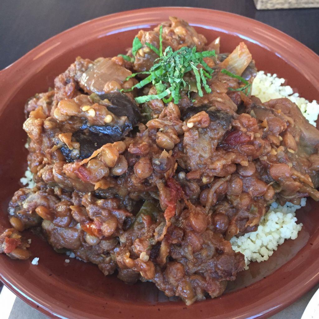 "Photo of Rosemary and Vine  by <a href=""/members/profile/BriggitteJ"">BriggitteJ</a> <br/>Roasted Eggplant over Cous Cous  <br/> December 5, 2015  - <a href='/contact/abuse/image/65830/127307'>Report</a>"