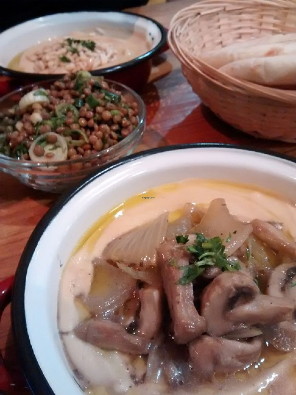 """Photo of La Hummuseria  by <a href=""""/members/profile/LeFunks"""">LeFunks</a> <br/>Hummus + lentil salad tapa <br/> December 24, 2015  - <a href='/contact/abuse/image/65872/129659'>Report</a>"""