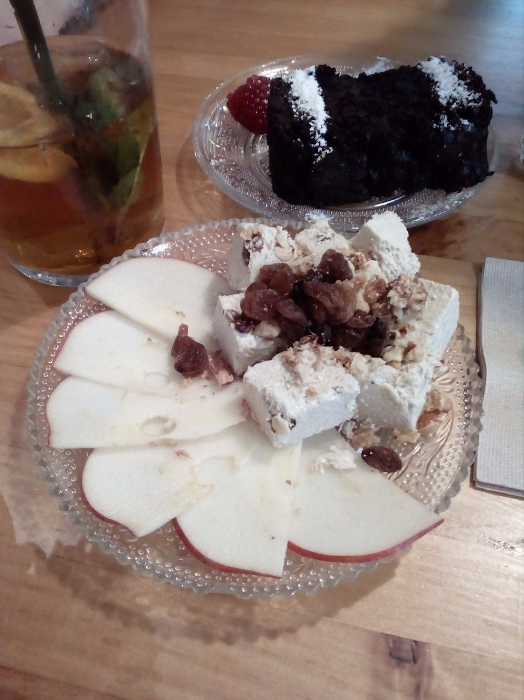 """Photo of La Hummuseria  by <a href=""""/members/profile/wyrd"""">wyrd</a> <br/>Torrone/nougat with apple slices <br/> May 4, 2017  - <a href='/contact/abuse/image/65872/255512'>Report</a>"""