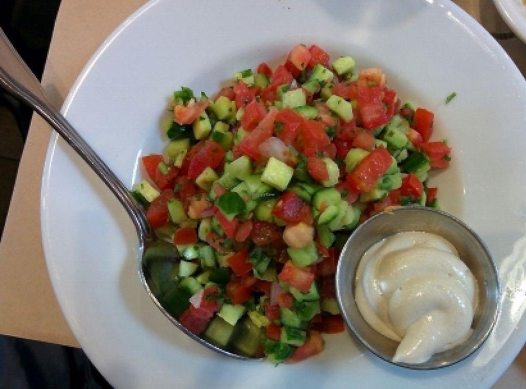 "Photo of Oren's Hummus  by <a href=""/members/profile/alexandra_vegan"">alexandra_vegan</a> <br/>big Israeli sallad with tahini dressing (vegan) <br/> May 8, 2016  - <a href='/contact/abuse/image/65879/188829'>Report</a>"