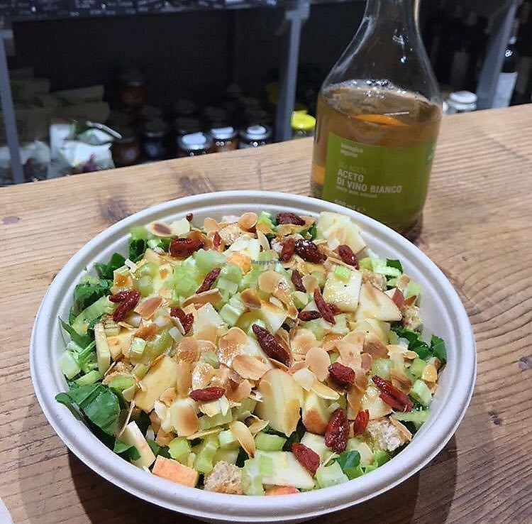 "Photo of Crispy Organic Market and Take Away  by <a href=""/members/profile/gurmevegan"">gurmevegan</a> <br/>apple almond salad <br/> February 7, 2018  - <a href='/contact/abuse/image/65913/356094'>Report</a>"