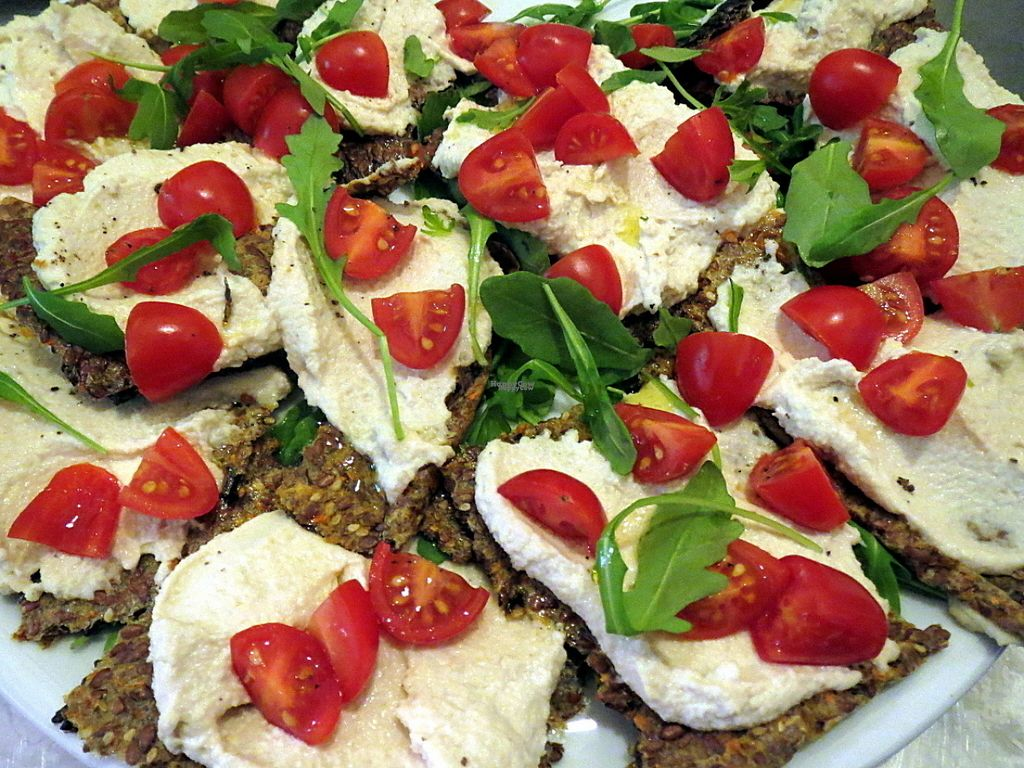 "Photo of Mezzaluna  by <a href=""/members/profile/Mezzaluna"">Mezzaluna</a> <br/>Flax crackers with cashew cheese <br/> August 10, 2016  - <a href='/contact/abuse/image/6592/167422'>Report</a>"