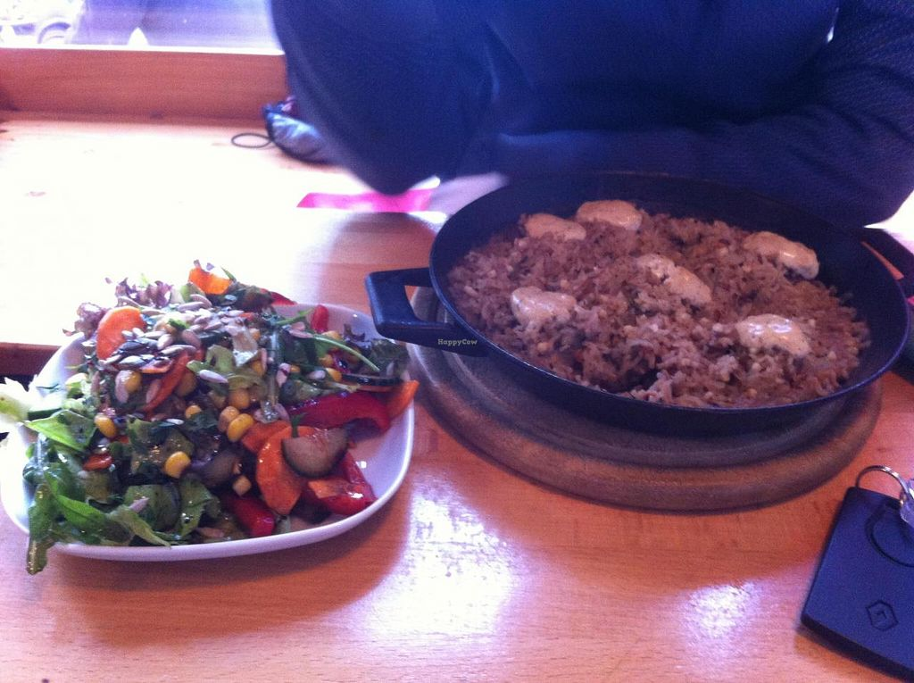 "Photo of Subrosa  by <a href=""/members/profile/SimonGruber"">SimonGruber</a> <br/>vegan rice pan with mushrooms and salad <br/> September 2, 2014  - <a href='/contact/abuse/image/6593/78855'>Report</a>"