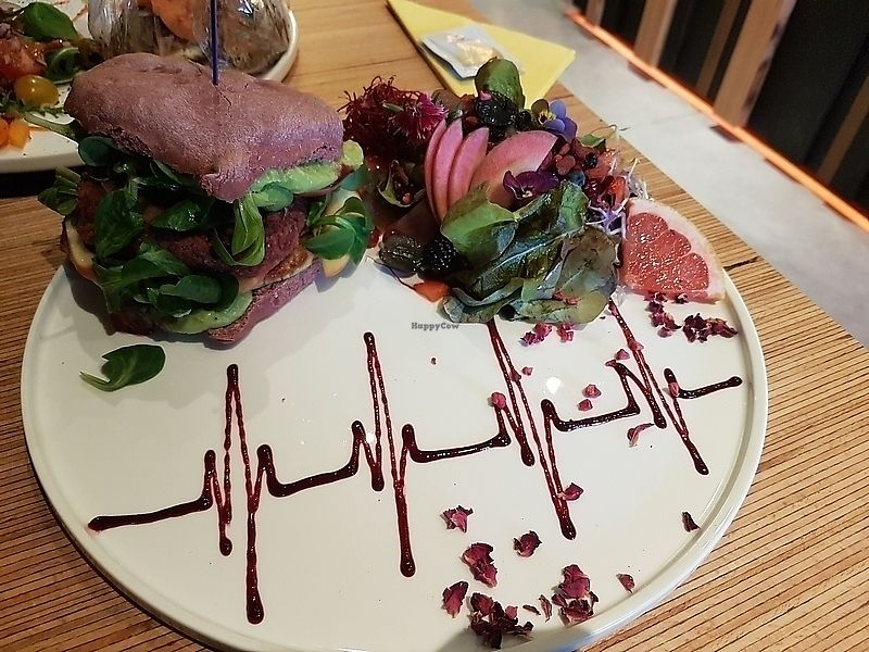 """Photo of hashtag food  by <a href=""""/members/profile/TrudiBruges"""">TrudiBruges</a> <br/>Beet burger (heartbeat) <br/> January 13, 2018  - <a href='/contact/abuse/image/65956/346057'>Report</a>"""