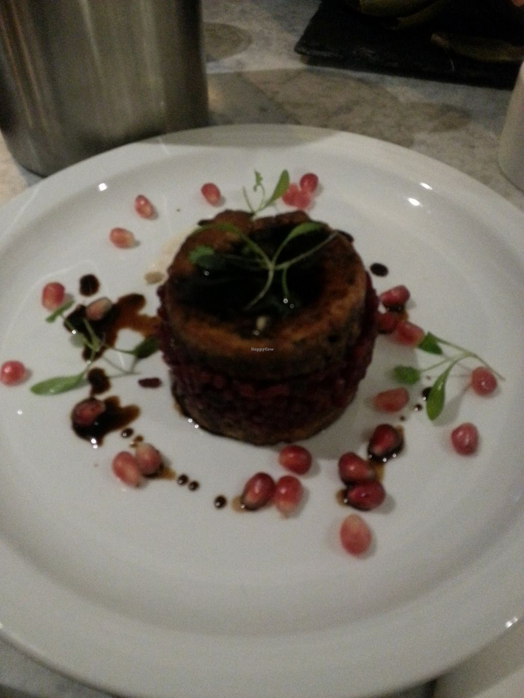 """Photo of CLOSED: 1847  by <a href=""""/members/profile/Miggi"""">Miggi</a> <br/>Tofu starter with beetroot risotto <br/> January 4, 2016  - <a href='/contact/abuse/image/65957/131063'>Report</a>"""