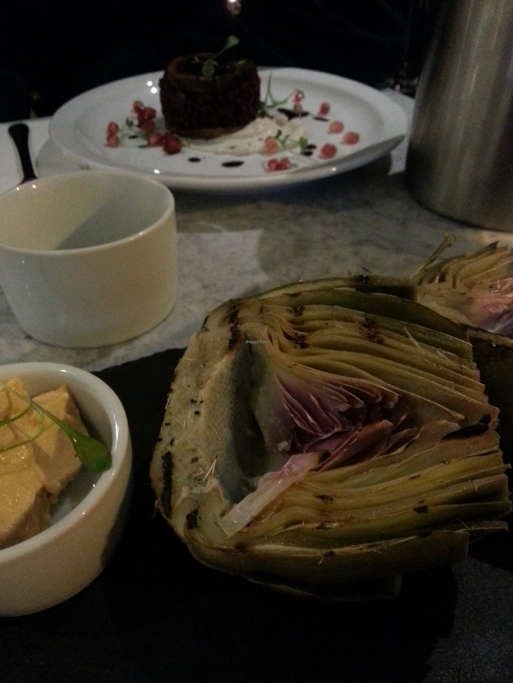 """Photo of CLOSED: 1847  by <a href=""""/members/profile/Miggi"""">Miggi</a> <br/>Artichoke with smoked vegan 'butter' <br/> January 4, 2016  - <a href='/contact/abuse/image/65957/131065'>Report</a>"""