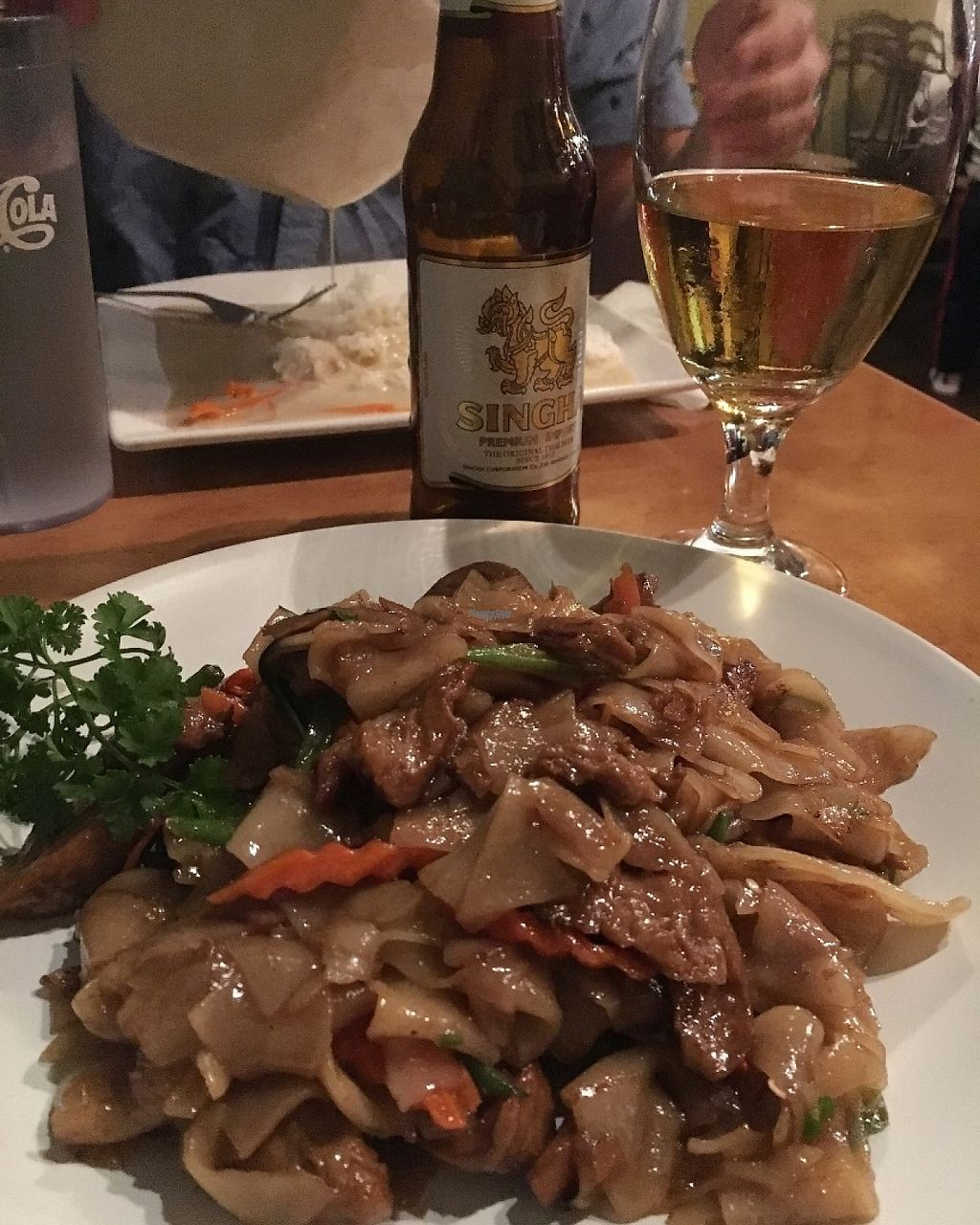 """Photo of Rim Talay  by <a href=""""/members/profile/oceansidevegan"""">oceansidevegan</a> <br/>Spicy drunken noodle with mock duck <br/> March 11, 2017  - <a href='/contact/abuse/image/65977/235259'>Report</a>"""