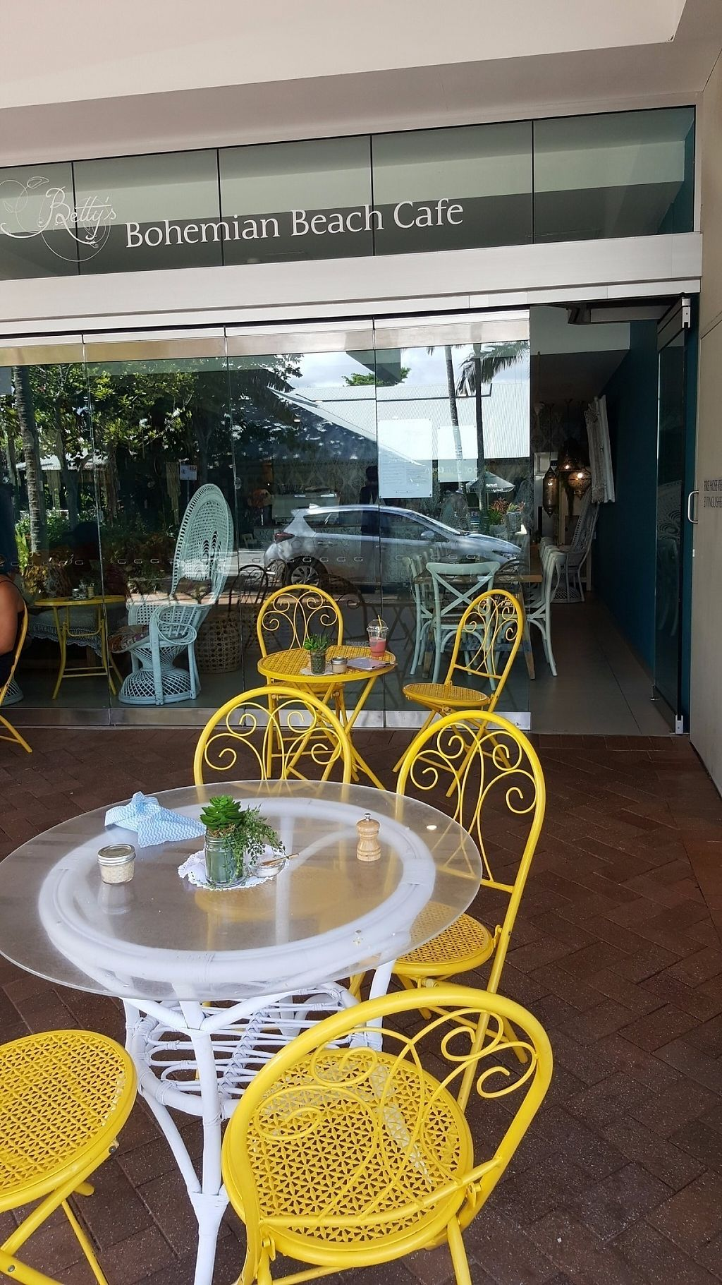 "Photo of Betty's Bohemian Beach Cafe  by <a href=""/members/profile/Hotfuzzy69"">Hotfuzzy69</a> <br/>Outdoor seating <br/> April 25, 2017  - <a href='/contact/abuse/image/66012/252180'>Report</a>"