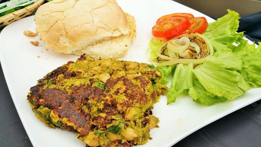 "Photo of Cafe Bar Union  by <a href=""/members/profile/YanaCh"">YanaCh</a> <br/>Chickpea & spinach burger <br/> July 13, 2016  - <a href='/contact/abuse/image/66042/159680'>Report</a>"