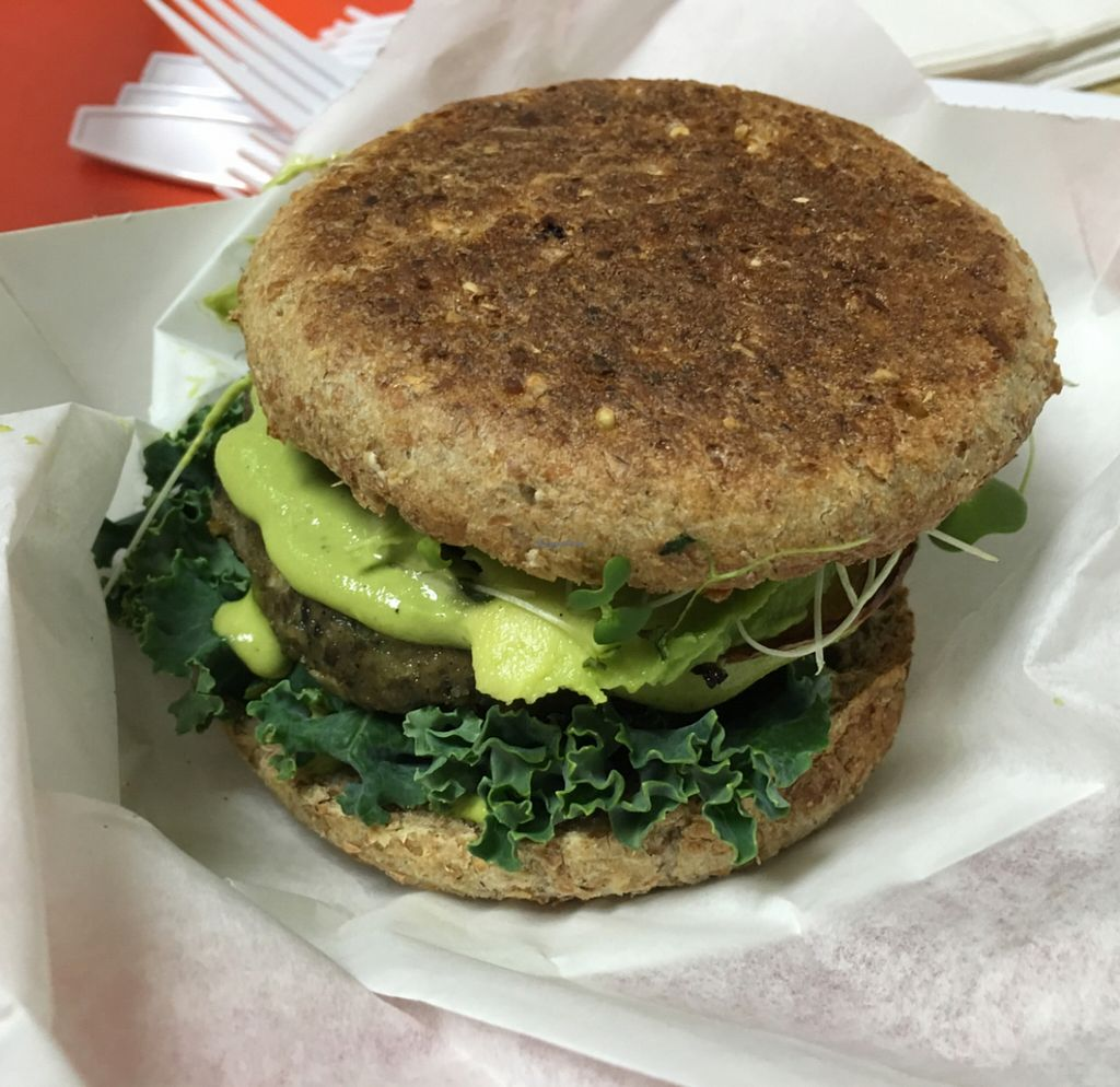 """Photo of Purple Sprout Cafe  by <a href=""""/members/profile/Tiger111333999"""">Tiger111333999</a> <br/>black bean burger <br/> March 9, 2016  - <a href='/contact/abuse/image/66067/139468'>Report</a>"""