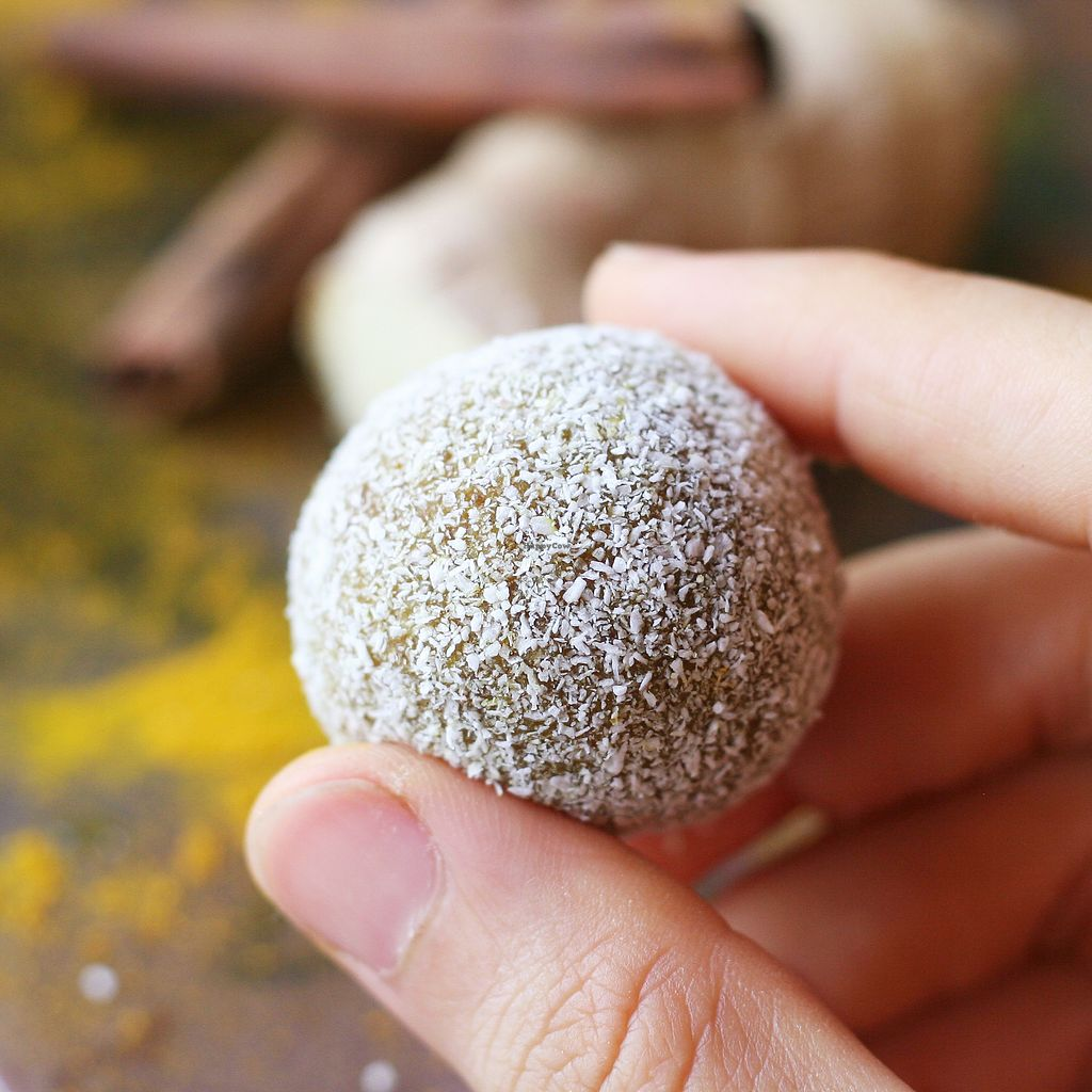 """Photo of Earthly Delights Stall  by <a href=""""/members/profile/Yasminenazmy"""">Yasminenazmy</a> <br/>Ginger coconut truffles <br/> July 15, 2017  - <a href='/contact/abuse/image/66071/280605'>Report</a>"""