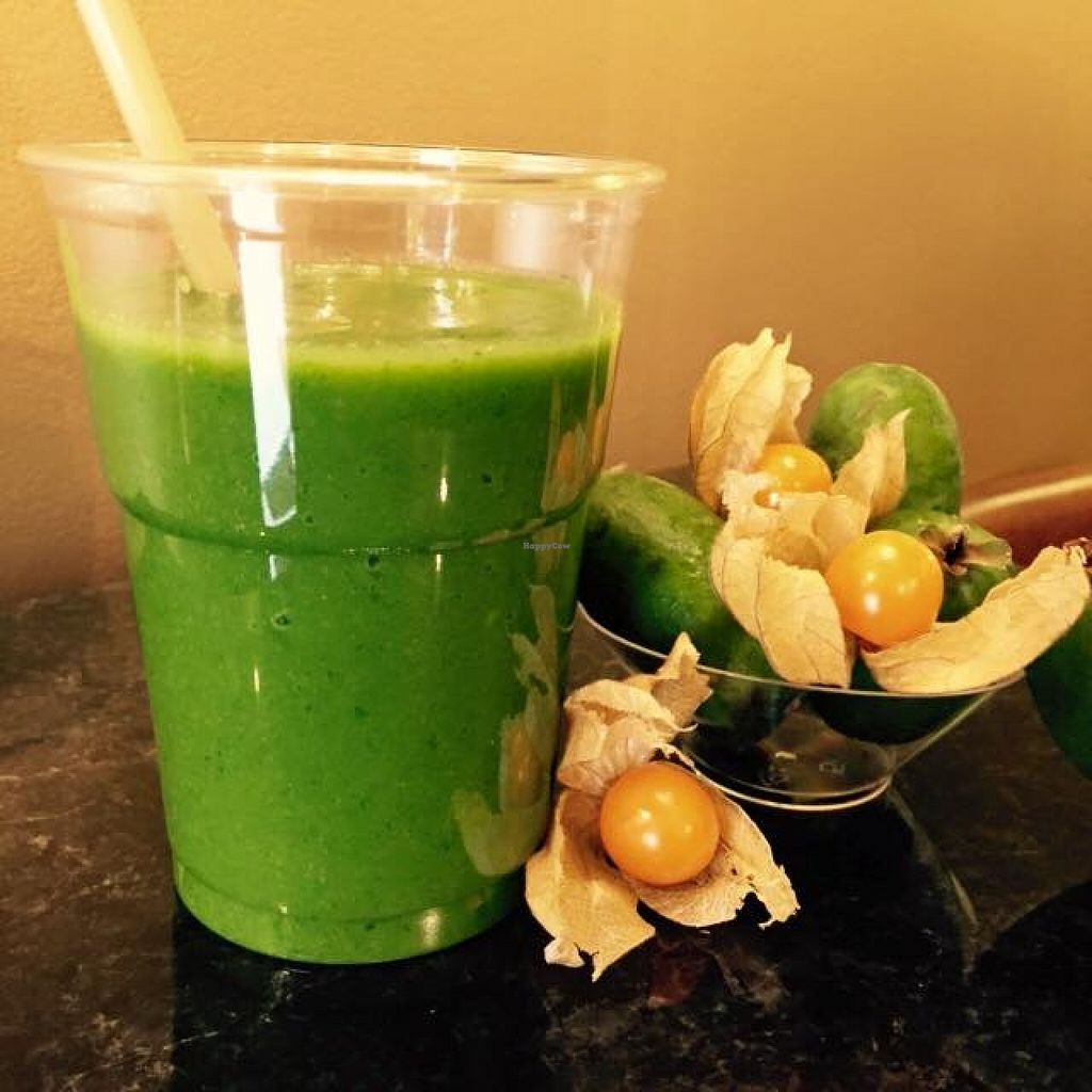 Photo of Eliksir Fruit Cocktail House  by Eliksir <br/>beautiful green feihoa; apples, parsley, cinnamon <br/> December 9, 2015  - <a href='/contact/abuse/image/66073/127681'>Report</a>