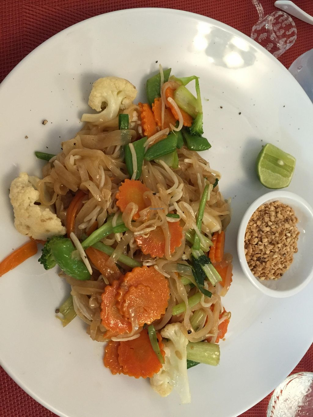 """Photo of Amici Miei Hotel  by <a href=""""/members/profile/Rocker"""">Rocker</a> <br/>Vegan pad thai <br/> November 18, 2015  - <a href='/contact/abuse/image/66079/125413'>Report</a>"""