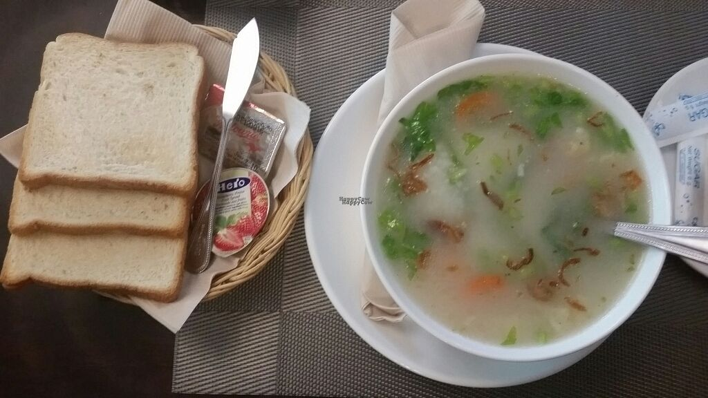 """Photo of Amici Miei Hotel  by <a href=""""/members/profile/VeganForSnow"""">VeganForSnow</a> <br/>Thai breakfast set with coffee (Khao tom) <br/> October 10, 2016  - <a href='/contact/abuse/image/66079/180940'>Report</a>"""
