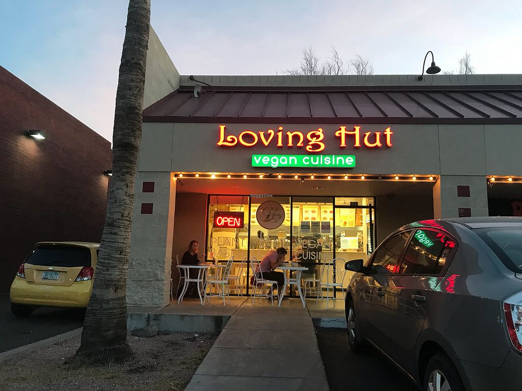 """Photo of Loving Hut  by <a href=""""/members/profile/edina.kurdi"""">edina.kurdi</a> <br/>And inside with television showing vegan recipes and similar <br/> January 6, 2018  - <a href='/contact/abuse/image/66087/343502'>Report</a>"""