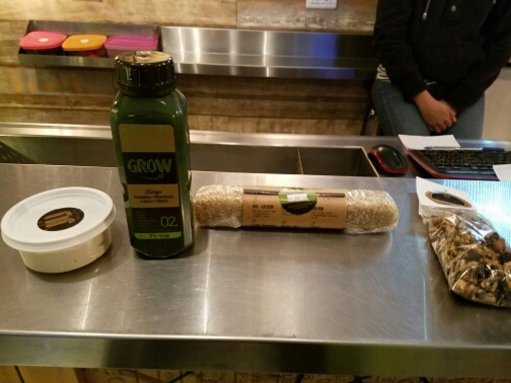 "Photo of JU  by <a href=""/members/profile/kenvegan"">kenvegan</a> <br/>cashew cheese, fresh juice and vegan sushi <br/> April 26, 2016  - <a href='/contact/abuse/image/66100/146306'>Report</a>"