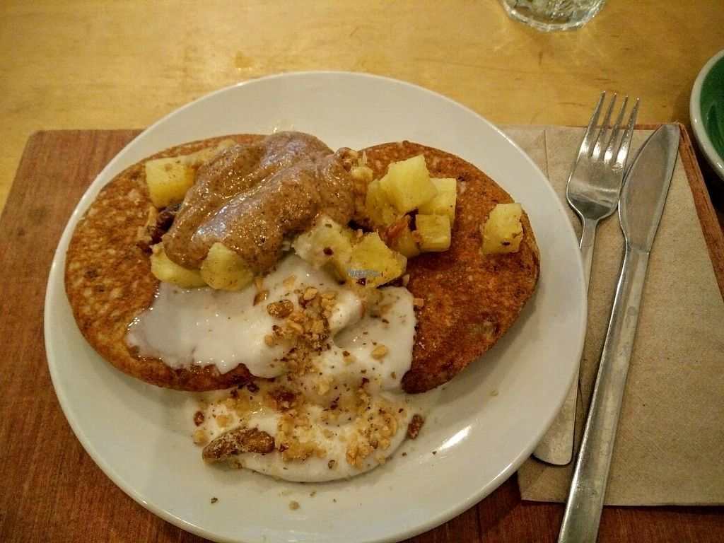 """Photo of CLOSED: Yogism - George's Street Arcade  by <a href=""""/members/profile/sunshineMUC"""">sunshineMUC</a> <br/>vegan pancakes <br/> October 8, 2016  - <a href='/contact/abuse/image/66107/180643'>Report</a>"""