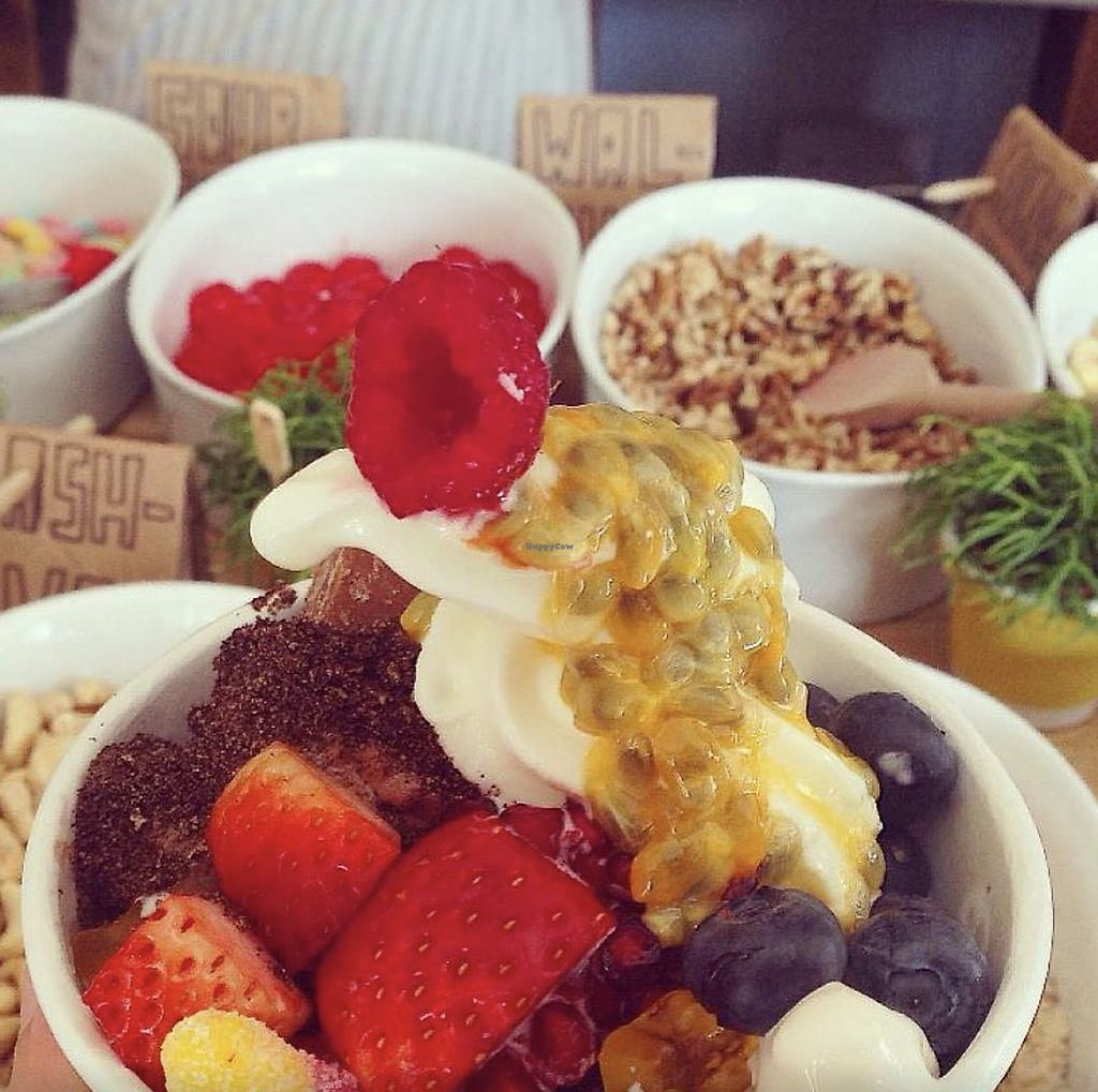 """Photo of CLOSED: Yogism - George's Street Arcade  by <a href=""""/members/profile/TheAccessibleVegan"""">TheAccessibleVegan</a> <br/>Frozen yogurt and sweets <br/> August 8, 2017  - <a href='/contact/abuse/image/66107/290531'>Report</a>"""