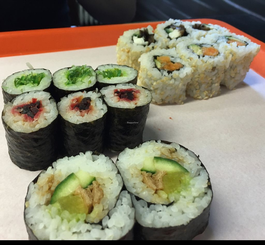 """Photo of CLOSED: MakiMaki Sushi Green  by <a href=""""/members/profile/marky_mark"""">marky_mark</a> <br/>mixed plate <br/> May 21, 2016  - <a href='/contact/abuse/image/66112/150051'>Report</a>"""
