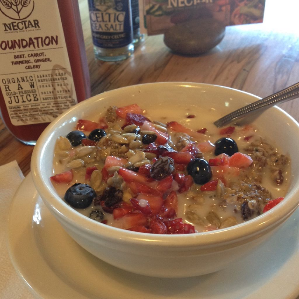"""Photo of CLOSED: Nectar  by <a href=""""/members/profile/turtleveg"""">turtleveg</a> <br/>best granola ever and Foundation juice  <br/> May 24, 2016  - <a href='/contact/abuse/image/66136/150618'>Report</a>"""