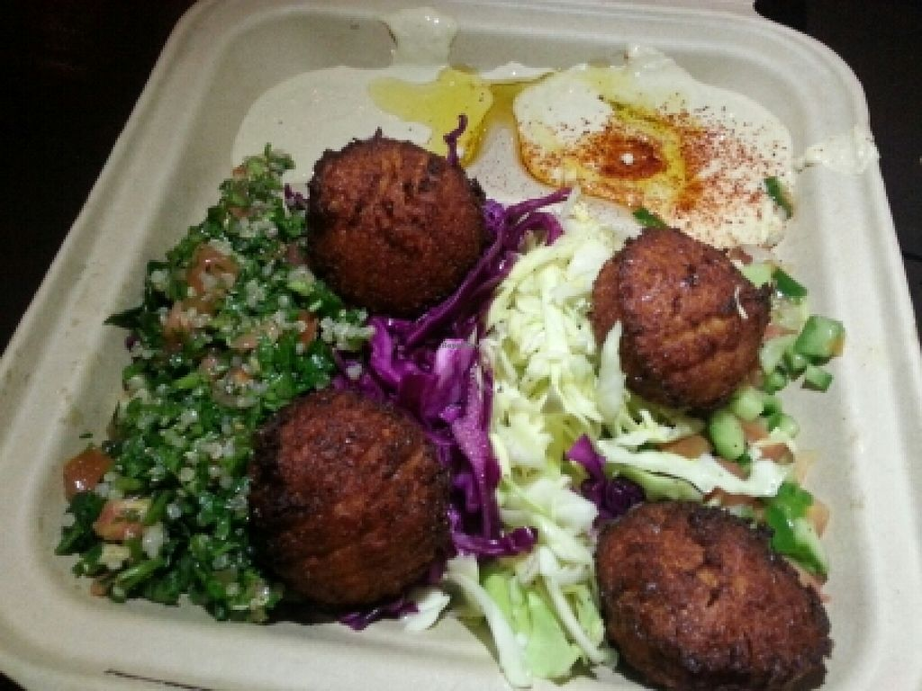 "Photo of CLOSED: Fala Bar - Venice  by <a href=""/members/profile/eric"">eric</a> <br/>falafel plate <br/> February 6, 2016  - <a href='/contact/abuse/image/66143/135283'>Report</a>"