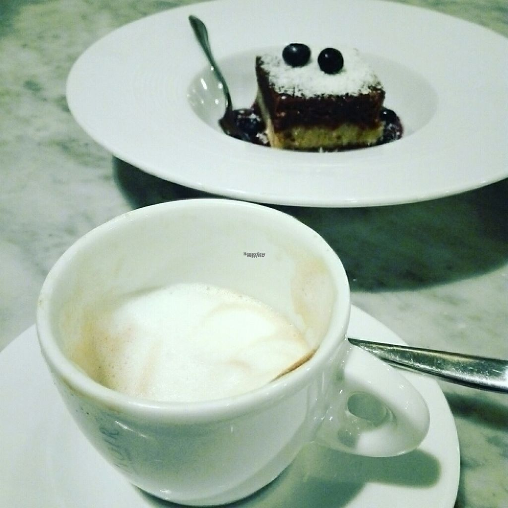 """Photo of Ginger  by <a href=""""/members/profile/AngelicaVZenteno"""">AngelicaVZenteno</a> <br/>raw cheesecake and soy cappuccino <br/> December 5, 2016  - <a href='/contact/abuse/image/66151/197684'>Report</a>"""