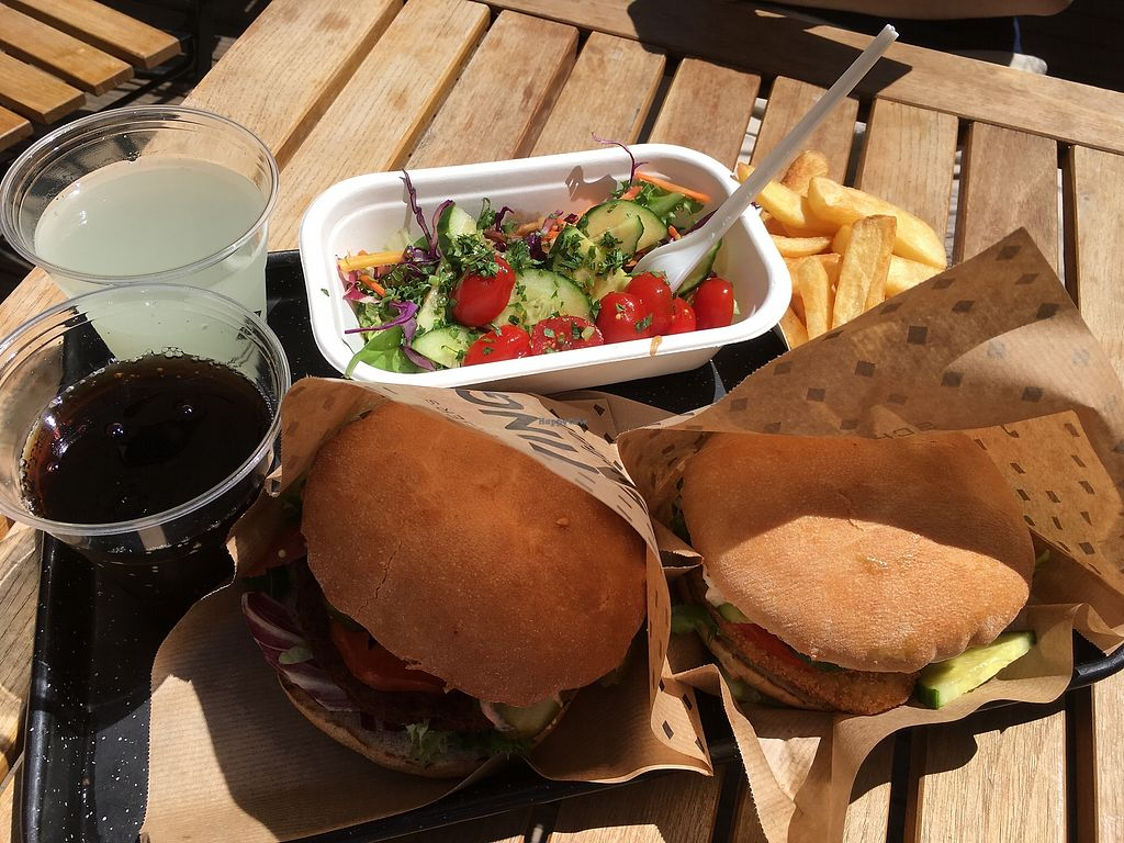 "Photo of Swing Kitchen - Operngasse  by <a href=""/members/profile/kucerovaa"">kucerovaa</a> <br/>Vienna burger, swing burger, french fries and garden salad? <br/> August 23, 2017  - <a href='/contact/abuse/image/66158/296160'>Report</a>"