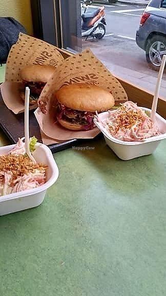 "Photo of Swing Kitchen - Operngasse  by <a href=""/members/profile/KristynaHerkova"">KristynaHerkova</a> <br/>Burgers with coleslaw salad  <br/> December 26, 2017  - <a href='/contact/abuse/image/66158/339216'>Report</a>"