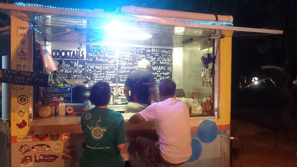 """Photo of Bistro del Mar Food Truck  by <a href=""""/members/profile/toppavak"""">toppavak</a> <br/>Menu, lots of vegetarian options. Make sure to specify preference, everything is made to order and can be customized <br/> November 23, 2015  - <a href='/contact/abuse/image/66165/125936'>Report</a>"""