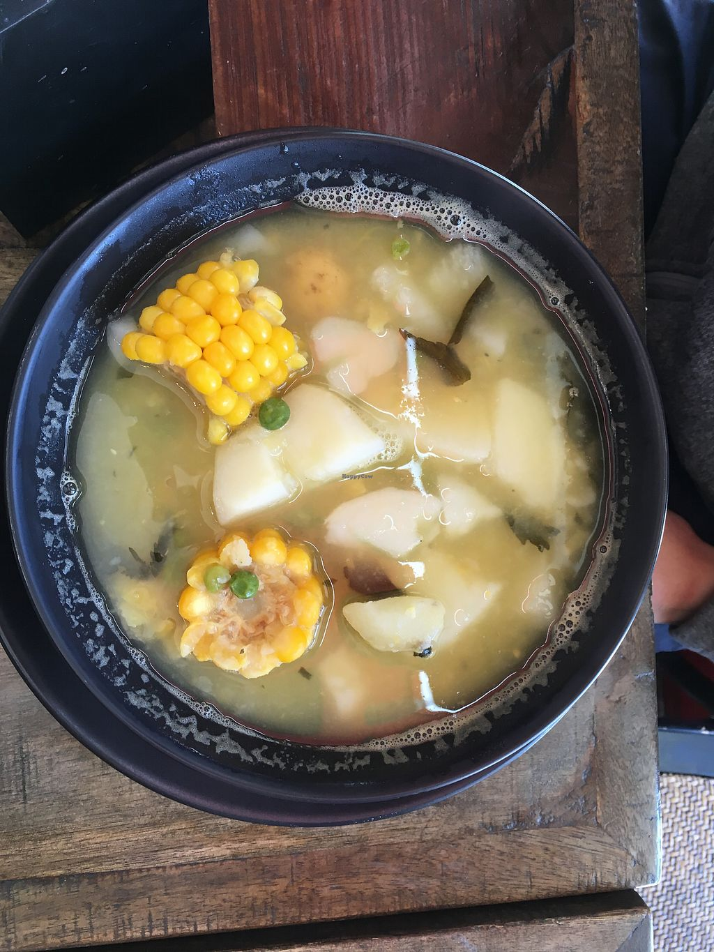 """Photo of ExotiK  by <a href=""""/members/profile/chapstick"""">chapstick</a> <br/>Ajiaco, a Colombian soup. Comes with a side place of rice, avocado and a small bowl of capers.  <br/> July 30, 2017  - <a href='/contact/abuse/image/66169/286570'>Report</a>"""