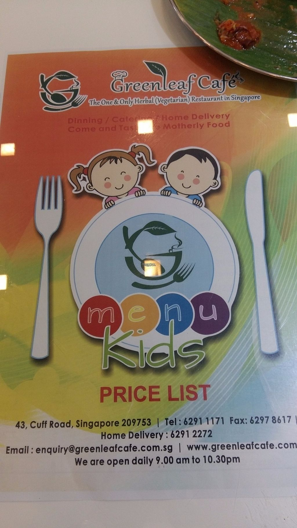 """Photo of Greenleaf Cafe  by <a href=""""/members/profile/Sai79"""">Sai79</a> <br/>Kids menu with kids portion and kids prices :)  <br/> October 4, 2016  - <a href='/contact/abuse/image/66186/179611'>Report</a>"""