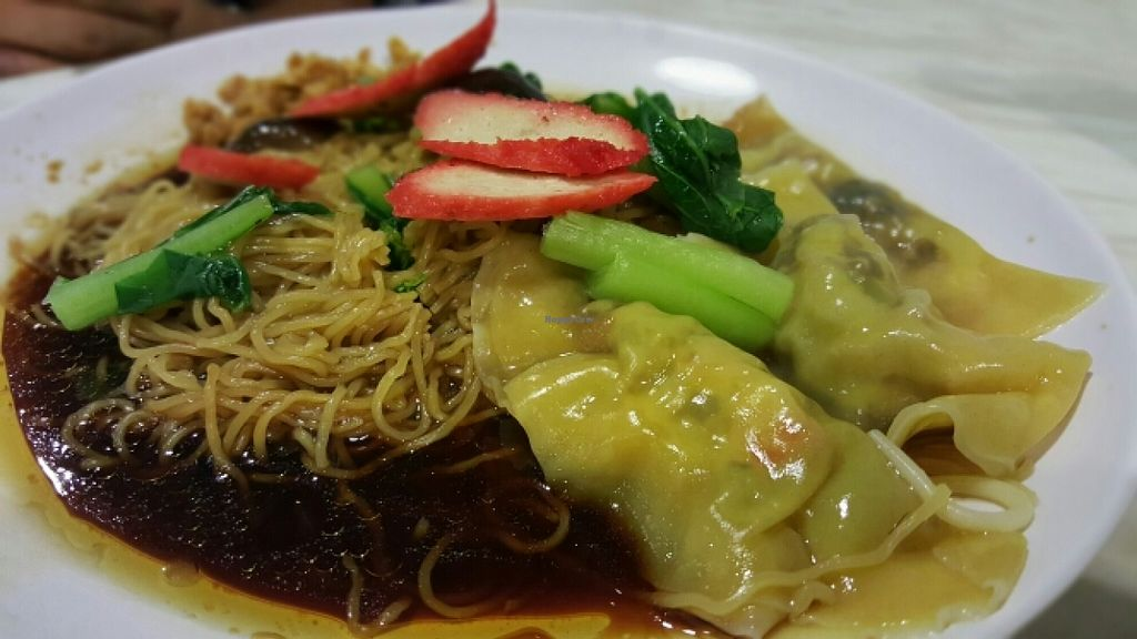 """Photo of CLOSED: Vegetarian Delight - at Gurney Paragon Mall  by <a href=""""/members/profile/JessieLim"""">JessieLim</a> <br/>Dumplings Mushroom Dried Noodles  <br/> May 10, 2016  - <a href='/contact/abuse/image/66200/148427'>Report</a>"""