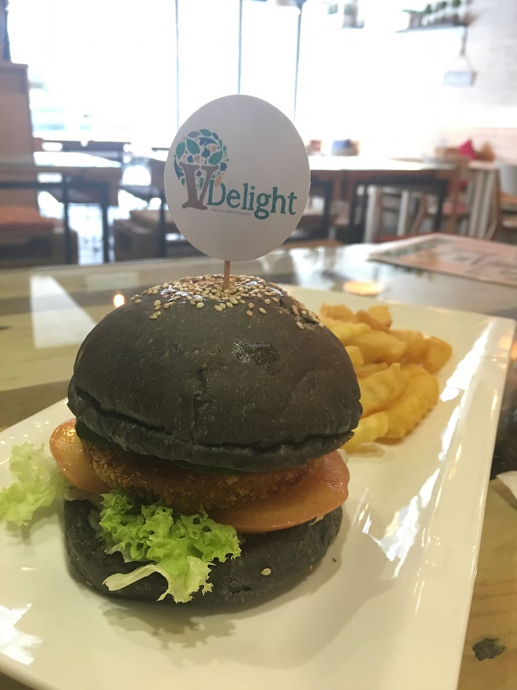 """Photo of V Delight  by <a href=""""/members/profile/Spaghetti_monster"""">Spaghetti_monster</a> <br/>Pumpkin burger (no mayo) <br/> October 9, 2017  - <a href='/contact/abuse/image/66224/313565'>Report</a>"""