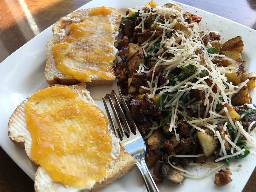 """Photo of CLOSED: 701 Coffee  by <a href=""""/members/profile/Veg4Jay"""">Veg4Jay</a> <br/>Mushroom Scramble <br/> August 19, 2017  - <a href='/contact/abuse/image/66227/294400'>Report</a>"""