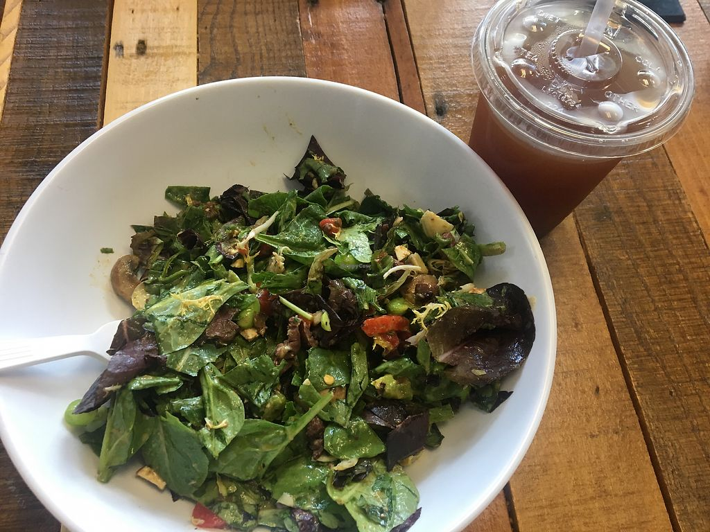 """Photo of Hungry Leaf  by <a href=""""/members/profile/StefAlvillar"""">StefAlvillar</a> <br/>Really good! *caution: the wraps aren't vegan* but one of the best salads i've had and they have tofu too <br/> September 3, 2017  - <a href='/contact/abuse/image/66228/300474'>Report</a>"""