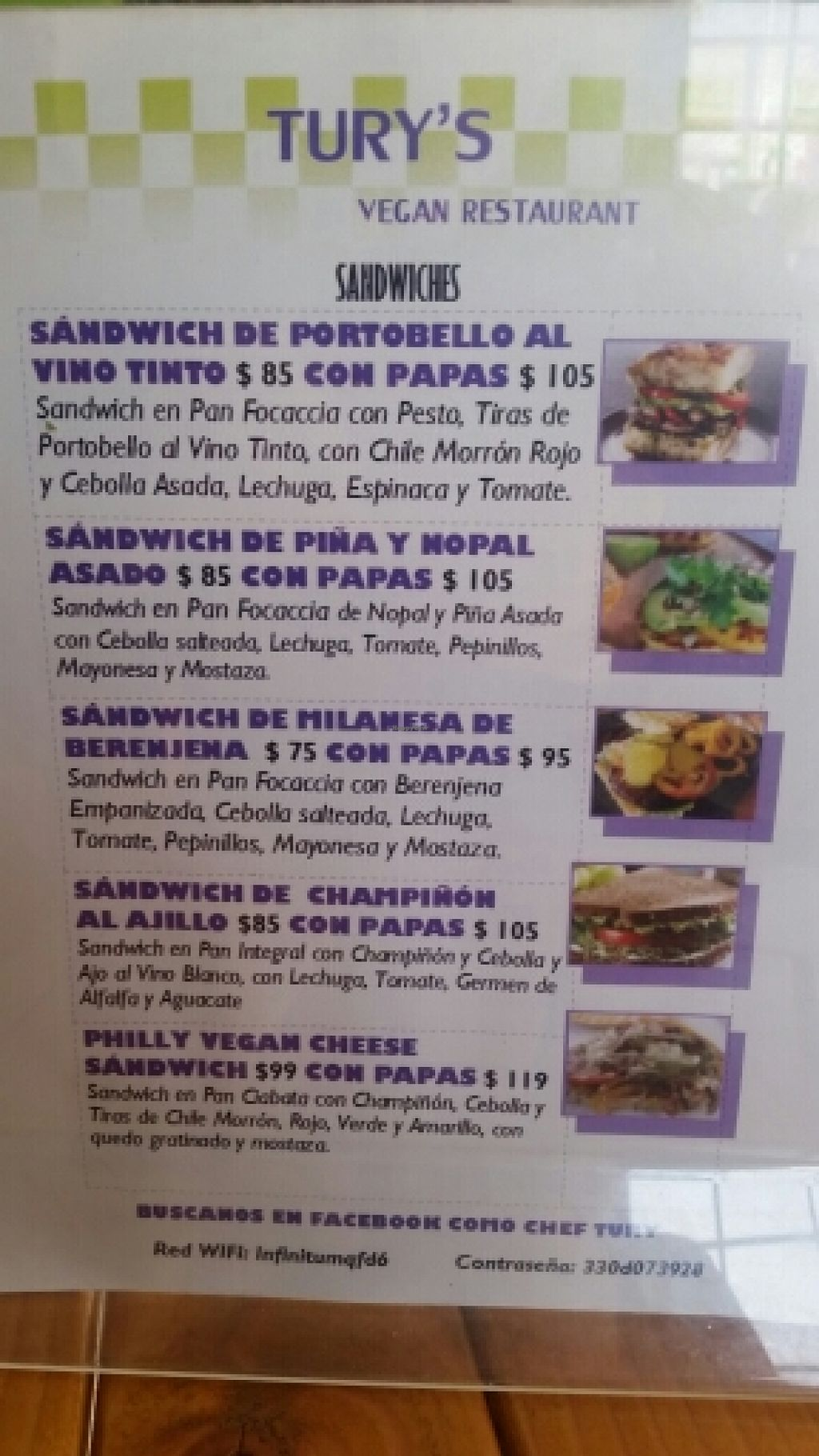 """Photo of Tury's  by <a href=""""/members/profile/kenvegan"""">kenvegan</a> <br/>menu <br/> December 7, 2015  - <a href='/contact/abuse/image/66290/127530'>Report</a>"""