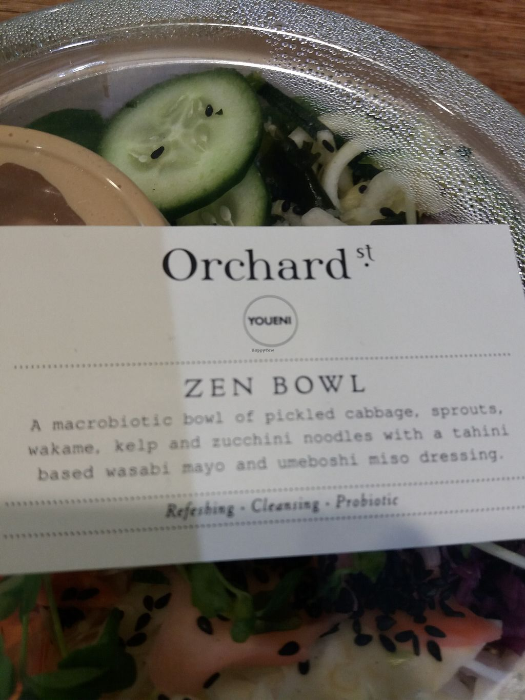 "Photo of Orchard Street  by <a href=""/members/profile/veganvirtues"">veganvirtues</a> <br/>Raw zen salad <br/> November 9, 2017  - <a href='/contact/abuse/image/66306/323436'>Report</a>"