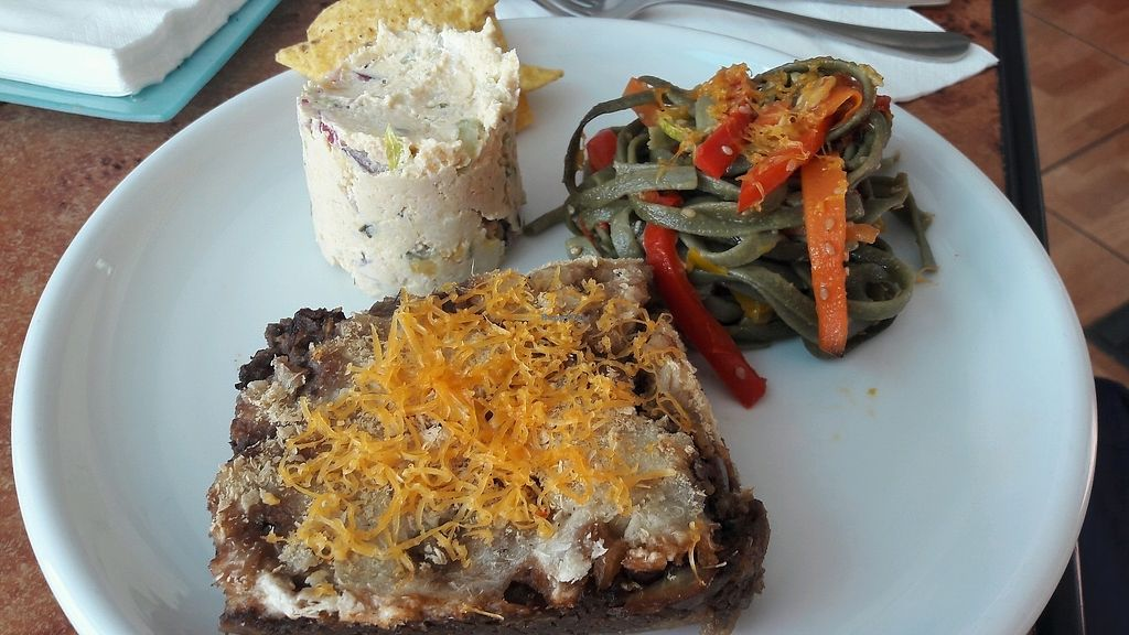 """Photo of El Veganito del Charco  by <a href=""""/members/profile/Veganolive1"""">Veganolive1</a> <br/>Trio of dishes  <br/> December 27, 2017  - <a href='/contact/abuse/image/66328/339615'>Report</a>"""