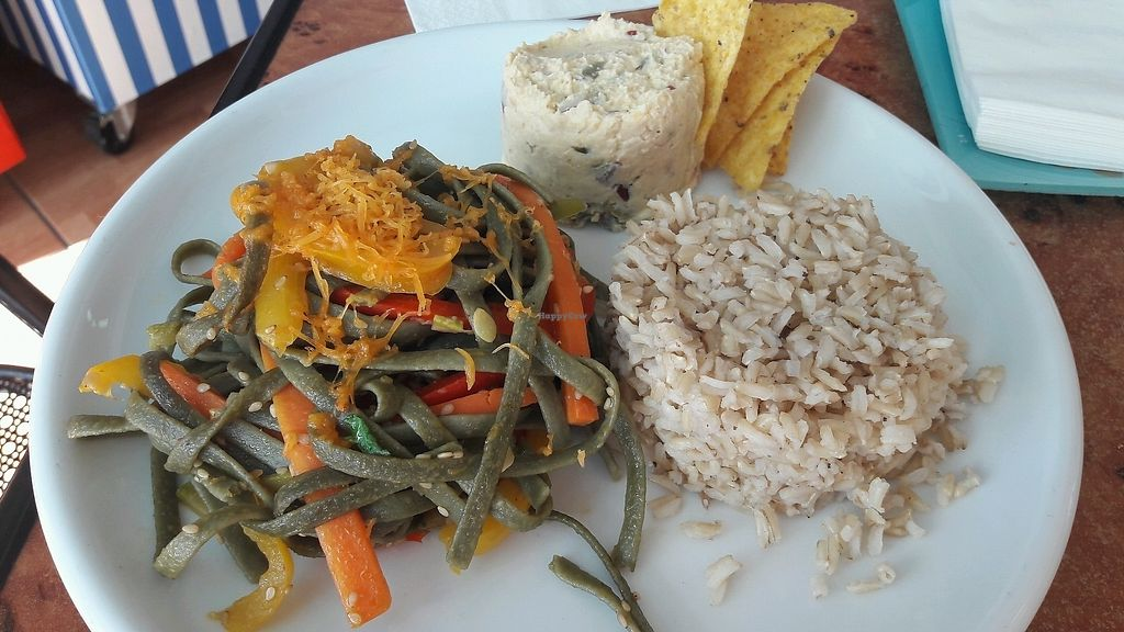 """Photo of El Veganito del Charco  by <a href=""""/members/profile/Veganolive1"""">Veganolive1</a> <br/>Trio of dishes  <br/> December 27, 2017  - <a href='/contact/abuse/image/66328/339616'>Report</a>"""