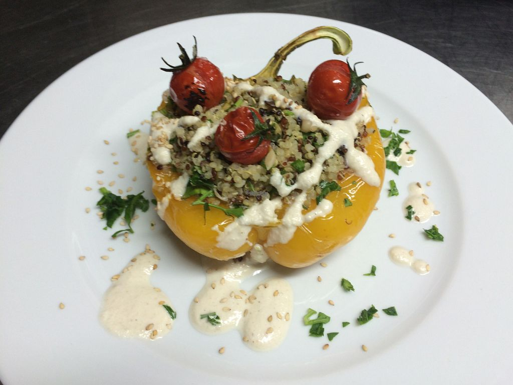 """Photo of CLOSED: Sa Pastanaga Restaurant  by <a href=""""/members/profile/xisca"""">xisca</a> <br/>Quinoa stuffed peppers <br/> September 4, 2016  - <a href='/contact/abuse/image/66354/173521'>Report</a>"""