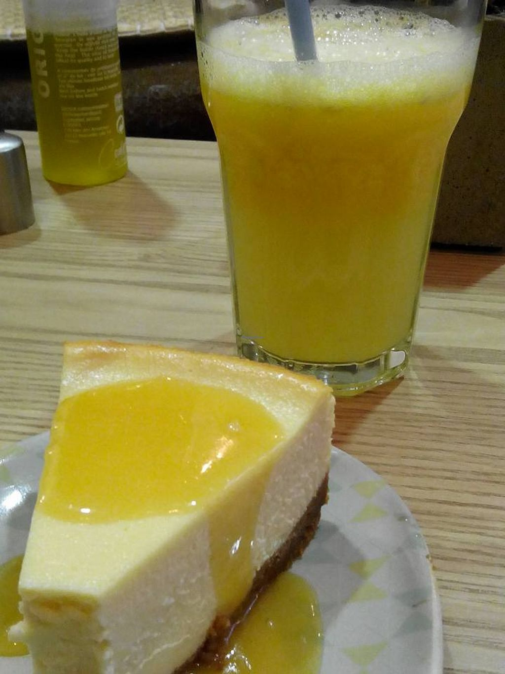 """Photo of La Ronronnerie  by <a href=""""/members/profile/violainous"""">violainous</a> <br/>Cheesecake and orange juice. Home made and tasty <br/> November 29, 2015  - <a href='/contact/abuse/image/66395/126518'>Report</a>"""
