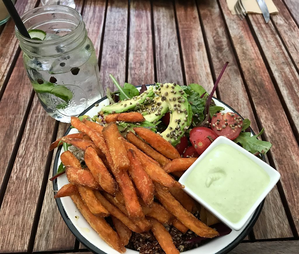 "Photo of Froindlichst - Winterhude  by <a href=""/members/profile/Yogini106"">Yogini106</a> <br/>Delicious Buddha Bowl at ""froindlichst""  <br/> August 5, 2017  - <a href='/contact/abuse/image/66416/289154'>Report</a>"