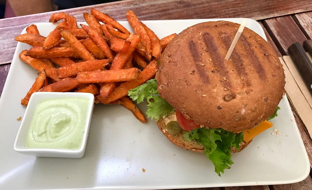 "Photo of Froindlichst - Winterhude  by <a href=""/members/profile/Yogini106"">Yogini106</a> <br/>Yummie ! Burger with sweet-potato-chips & Vajonaise !  <br/> August 5, 2017  - <a href='/contact/abuse/image/66416/289156'>Report</a>"