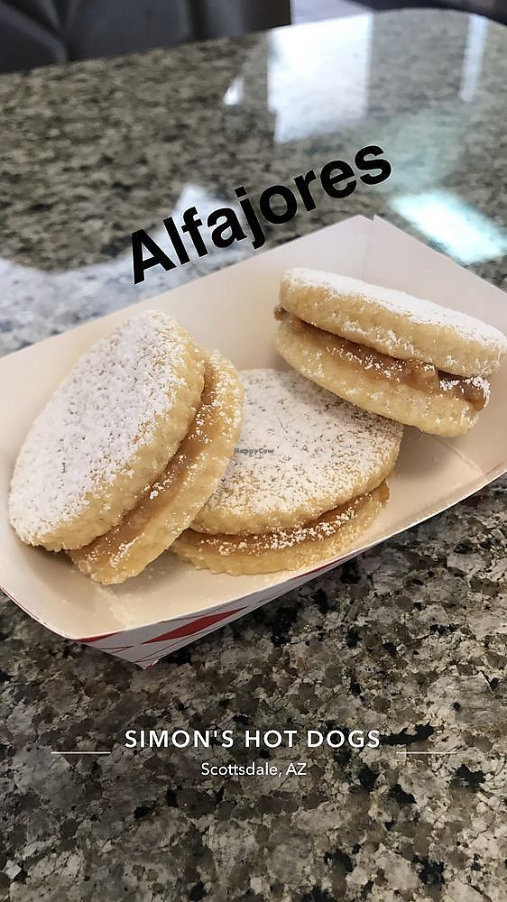 "Photo of Simon's Hot Dogs  by <a href=""/members/profile/Banana%20Buzzbomb"">Banana Buzzbomb</a> <br/>Alfajores cookies <br/> March 12, 2018  - <a href='/contact/abuse/image/66453/369908'>Report</a>"