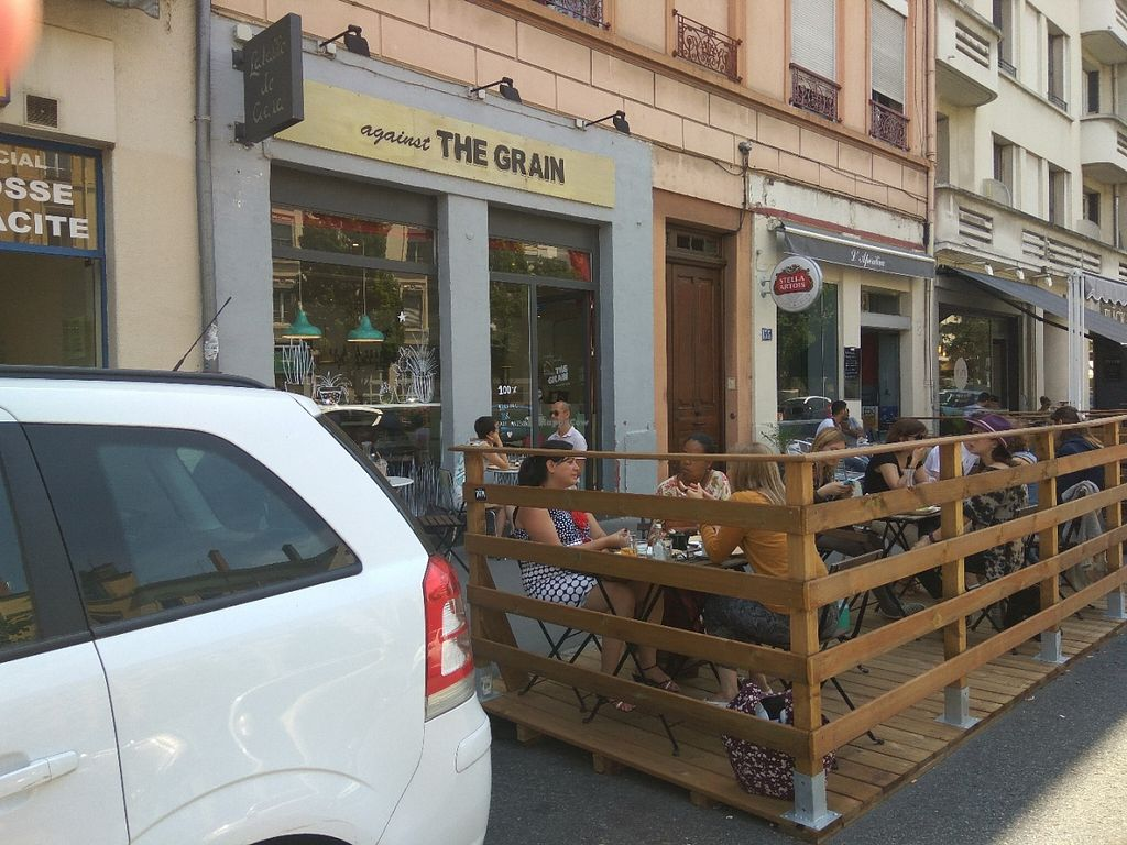 """Photo of Against the Grain  by <a href=""""/members/profile/Miggi"""">Miggi</a> <br/>Shop front and outdoor seating <br/> July 5, 2016  - <a href='/contact/abuse/image/66470/157974'>Report</a>"""