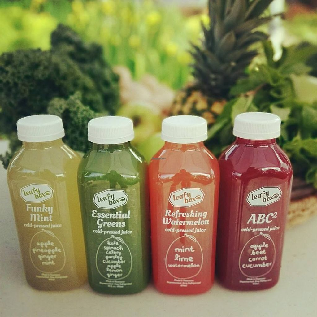 """Photo of LeafyBox  by <a href=""""/members/profile/community"""">community</a> <br/>cold pressed juices  <br/> December 7, 2015  - <a href='/contact/abuse/image/66481/127568'>Report</a>"""